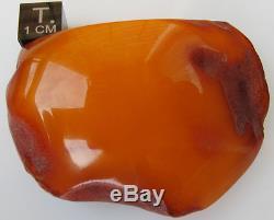 Vintage 24.63 Gm Polished Natural Genuine Baltic Amber Stone NR