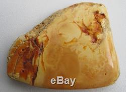 Vintage 31.91 Gm Polished Natural Genuine Baltic Amber Stone NR