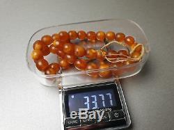 Vintage 33.77 gr. Natural Butterscotch Egg Yolk BALTIC AMBER NECKLACE