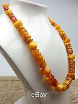 Vintage 37.14 gr. Natural Butterscotch Egg Yolk BALTIC AMBER Necklace
