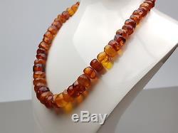 Vintage 51.60 gr. Natural Butterscotch Egg Yolk Baltic Amber Necklace