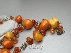 Vintage 58.10 gr. Natural Butterscotch Egg Yolk Baltic Amber Necklace