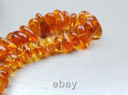 Vintage 61.87 gr. Natural Butterscotch Egg Yolk Baltic Amber Necklace