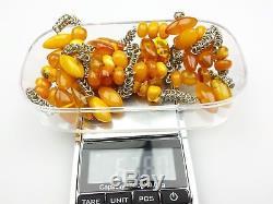 Vintage 67.80 gr. Natural Butterscotch Egg Yolk Baltic Amber Necklace