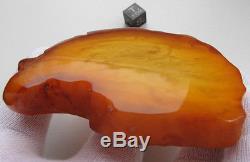 Vintage 70.59 Gm Polished Natural Genuine Baltic Amber Stone NR