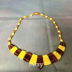 Vintage Amber Necklace Cleopatra Baltic Polished Butterscotch Transparent 21g