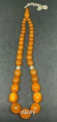 Vintage Baltic Amber Russian Ussr Natural Honey Graduated Prayer Bead Rosary 99g