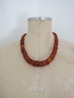 Vintage Baltic Butterscotch Egg Yolk Honey Amber Necklace Large