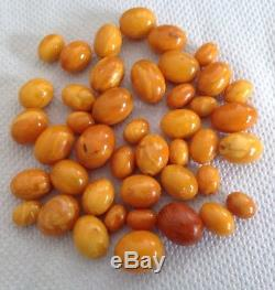 Vintage Butterscotch Natural Baltic Amber Loose Beads 56.9 Grams