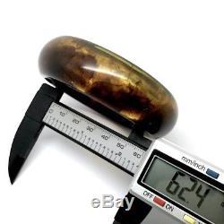 Vintage Natural Baltic Amber Cut Bangle Bracelet ID 62.4mm
