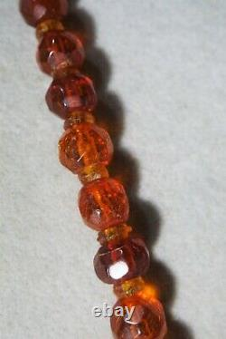 Vintage Victorian Natural Baltic Amber Bead Necklace