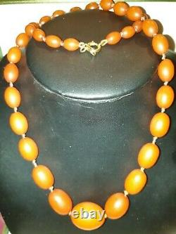 Vintage real butterscotch amber necklace 35g