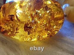 Vintage real butterscotch amber necklace 83 grmes