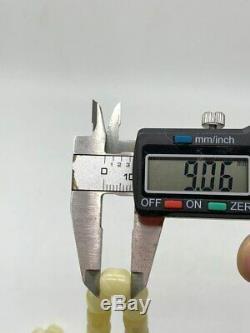 WHITE BALTIC AMBER ROSARY 31g CAPSULE misbah tesbih 66 prayer beads 100% NATURAL