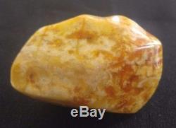 White Royal Marbled Tiger Natural Baltic Amber Stone 35.9 Gr