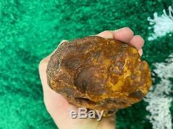 White Yellow Baltic Amber stone (220g.)