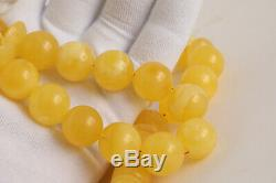 White amber rosary 109.5g 16mm Natural Baltic misbah tesbih 39 beads tiger PL
