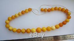 Wonderful! Alpha plus natural egg yolk Baltic amber antique set of beads